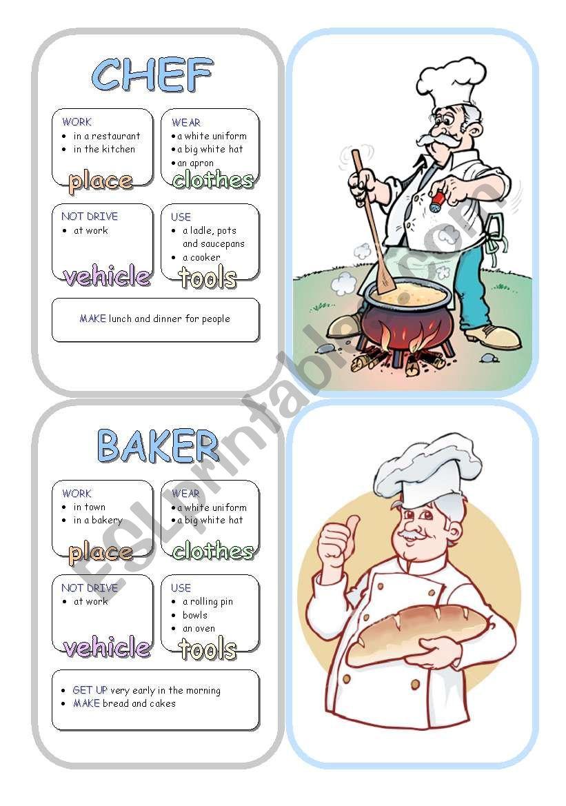 Job Cards - Set 3 worksheet