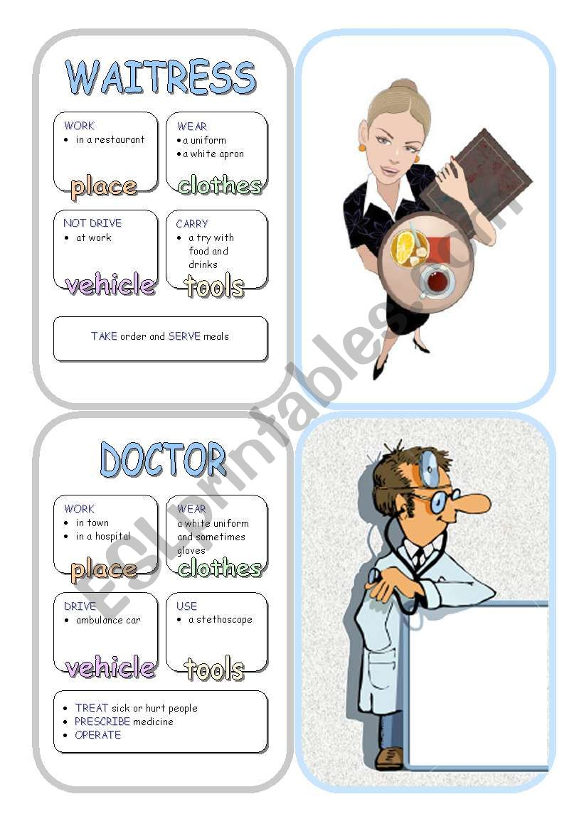 Job Cards - Set 4 worksheet