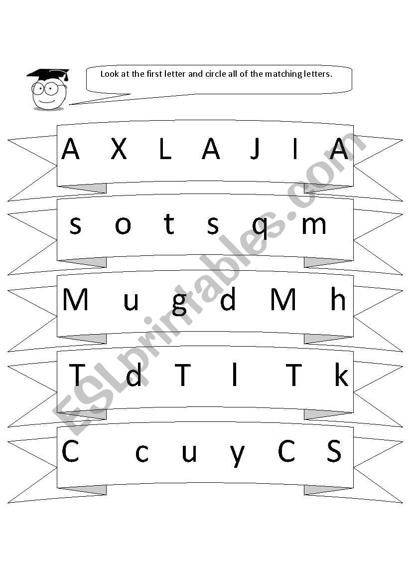 English Worksheets Letter Recognition