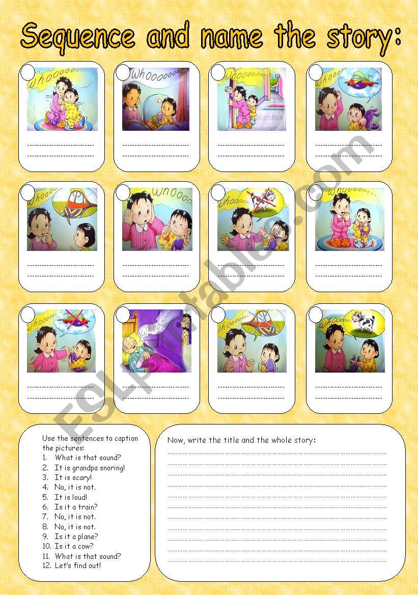 Sequence the story worksheet