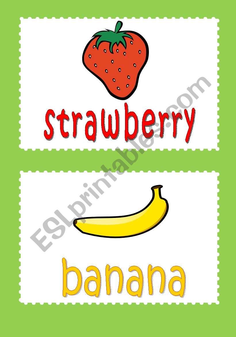 fruit flash cards worksheet