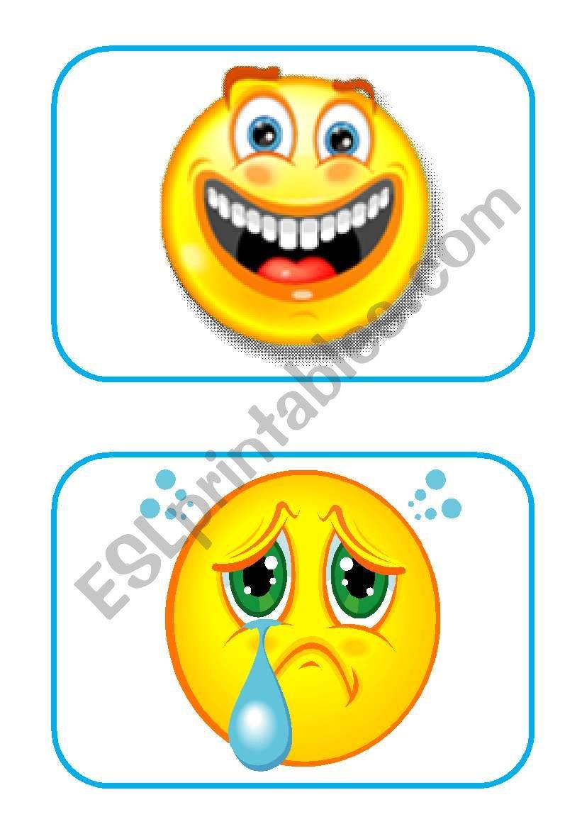 emotion flashcards worksheet
