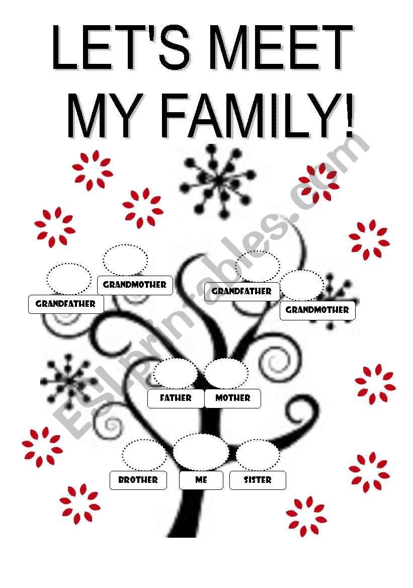 Family Tree Template Esl Worksheet By Fabiola Salinas