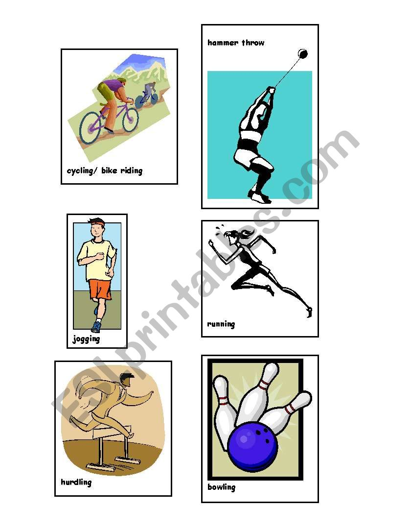 Sports and Exercise Charade- 2 of 2