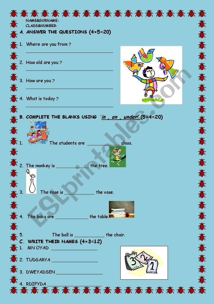 Aquiz for young learners worksheet
