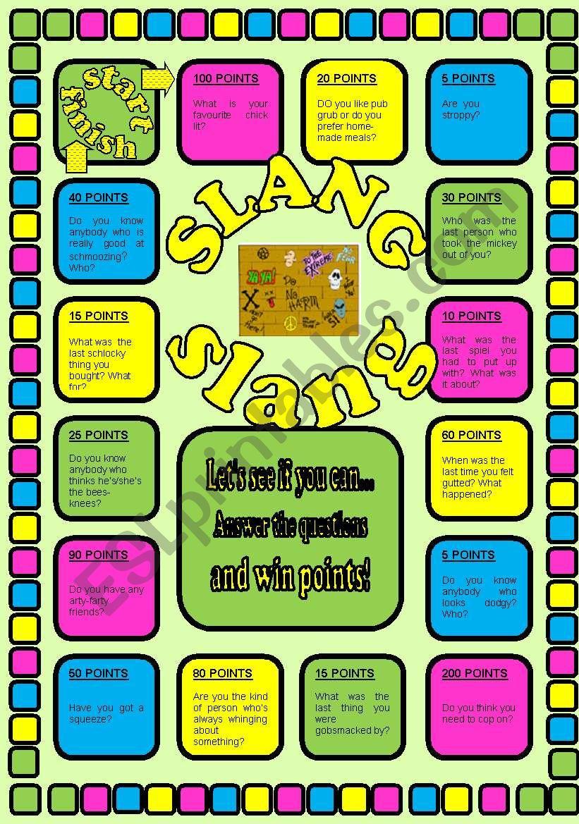 SLANG  SLANG SLANG! worksheet