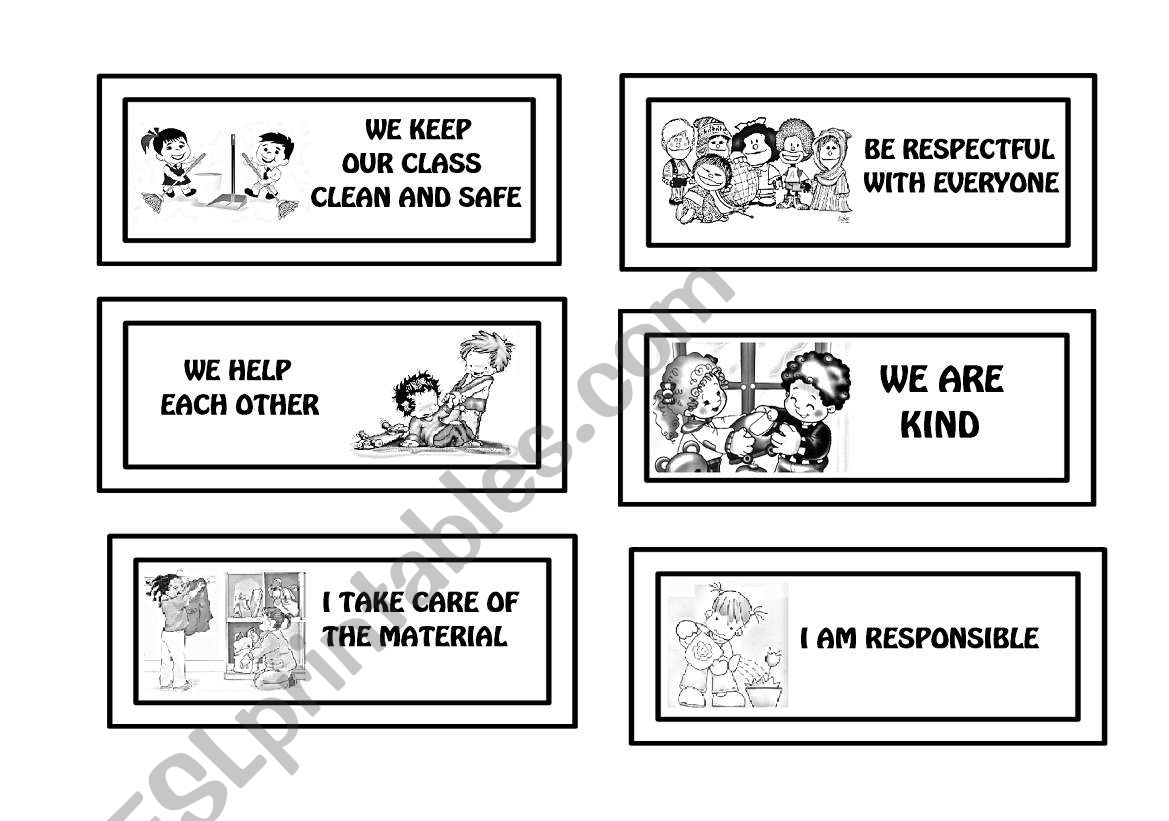 GOOD BEHAVIOUR worksheet