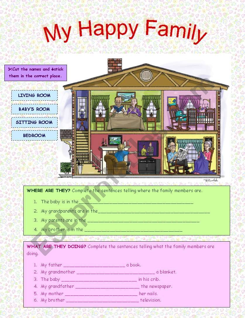 My Happy Family worksheet