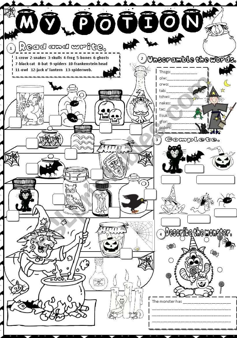 halloween   ESL worksheet by angelamoreyra