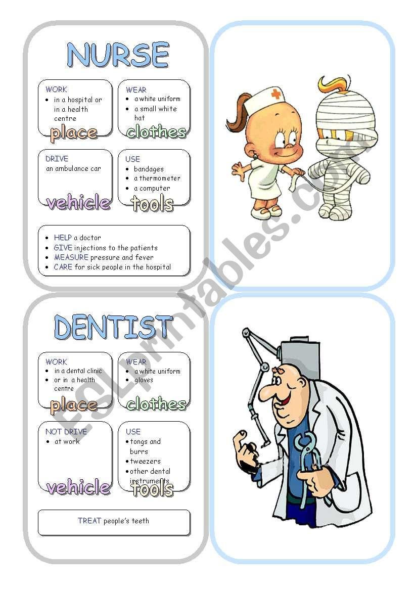 Job Cards - Set 6 worksheet