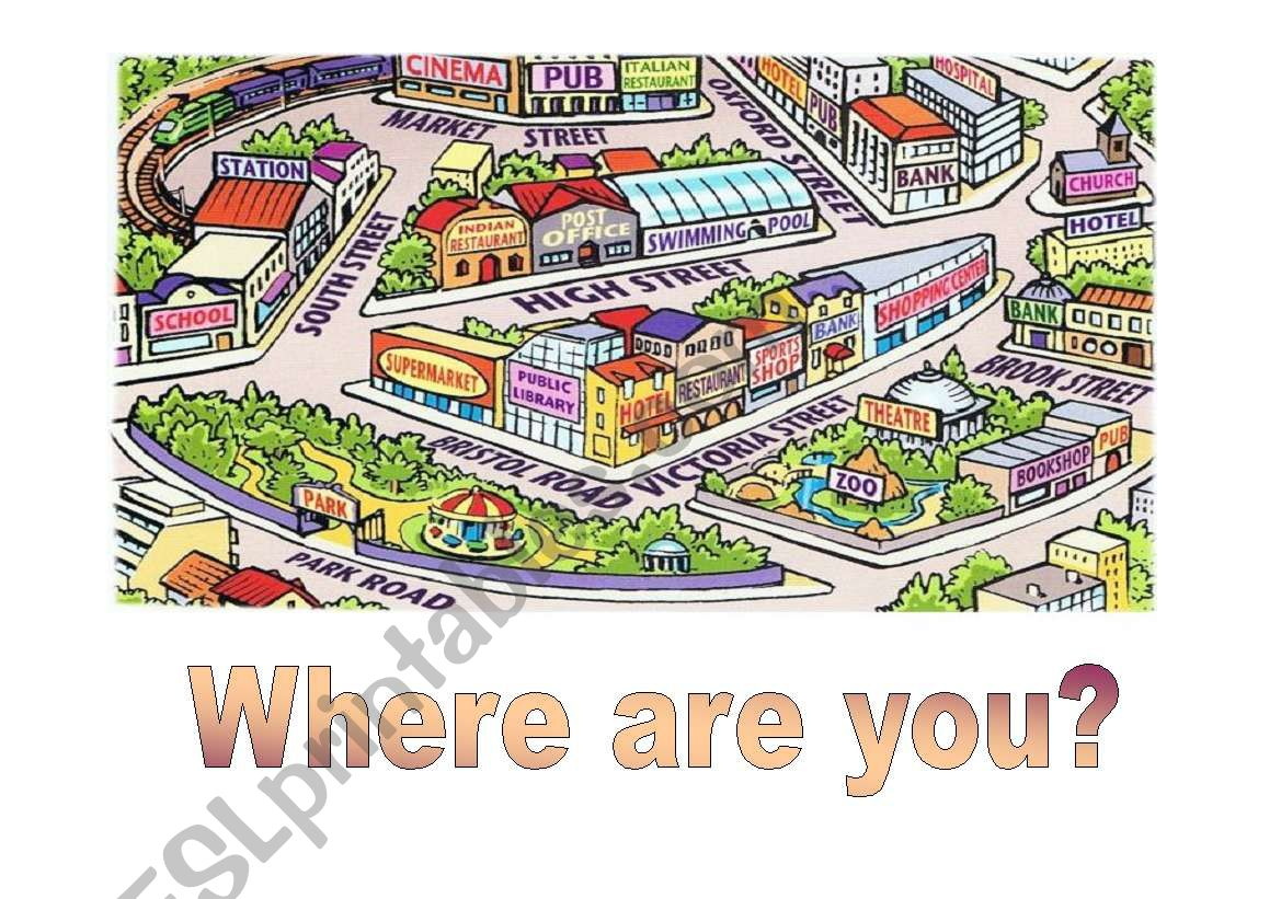 Where are you? worksheet