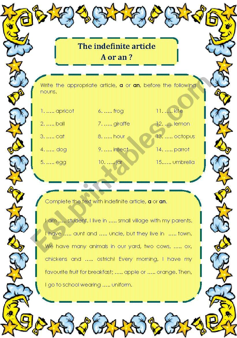 A or An? worksheet