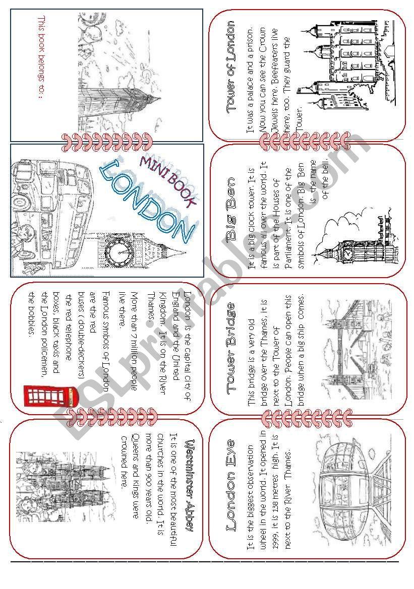 London Mini Book1 worksheet