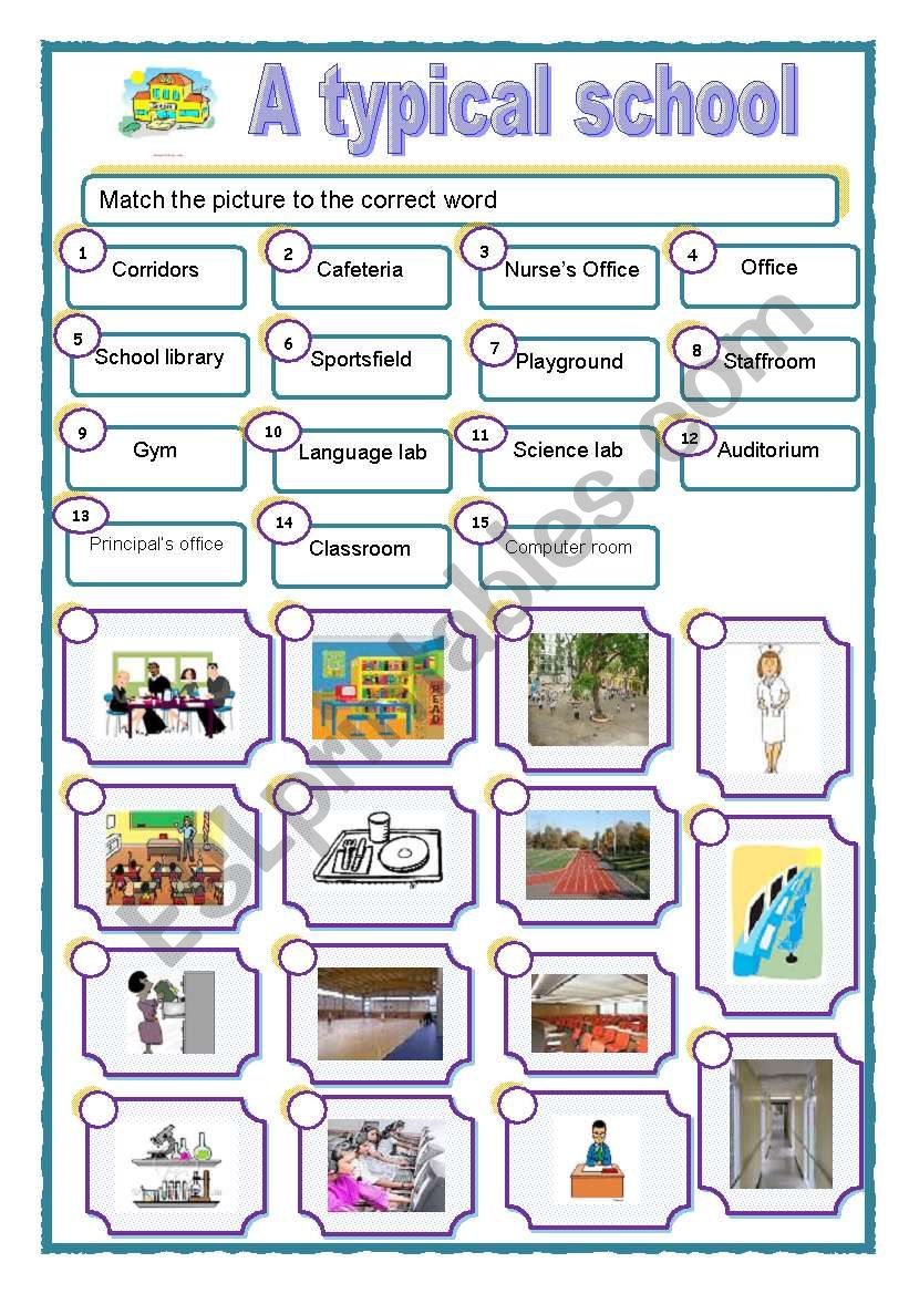 school places esl worksheet by towanda66. Black Bedroom Furniture Sets. Home Design Ideas