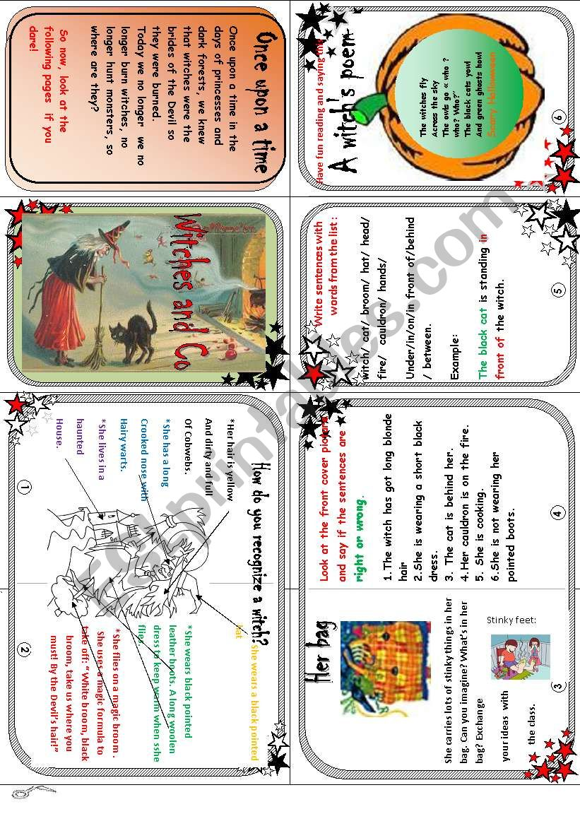 How do you recognize a witch? ( reading comp.+ reading and speaking activities)