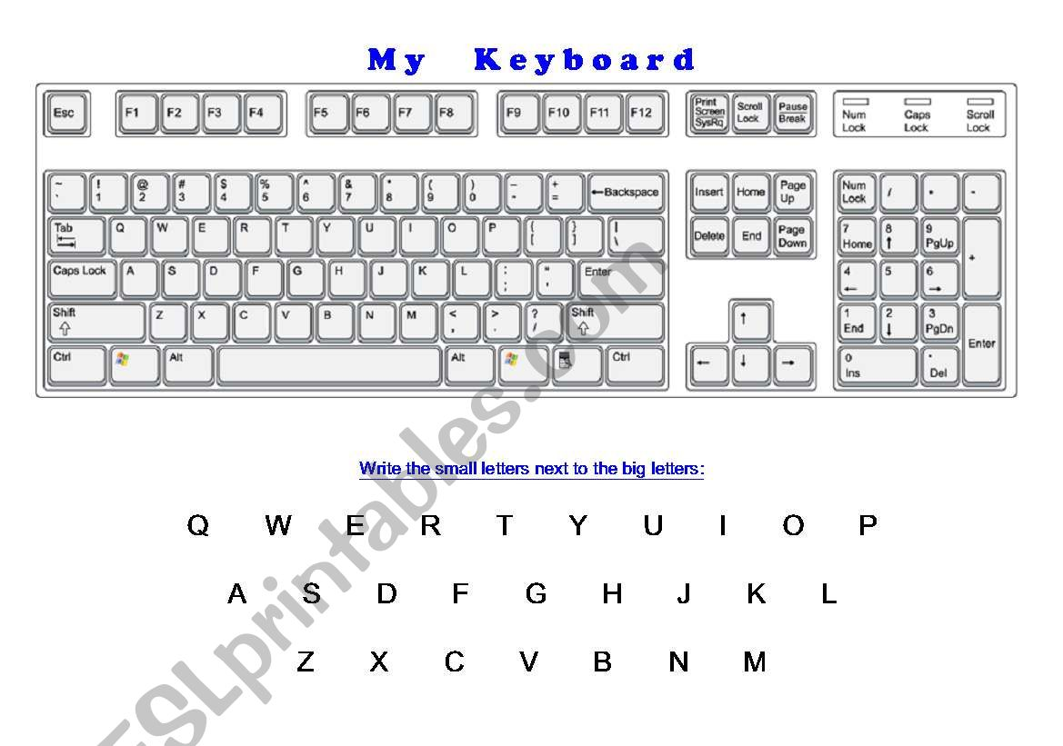 My Keyboard - Learning the Alphabet and the Keyboard