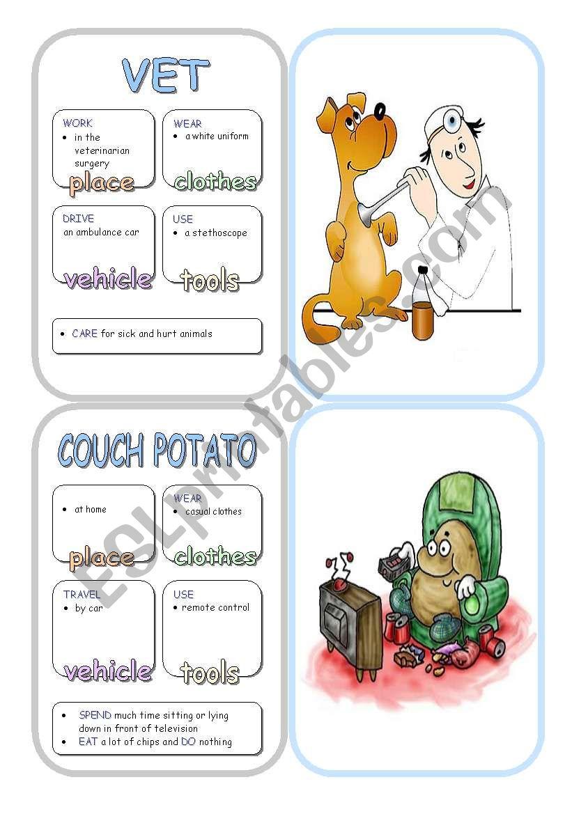 Job Cards - Set 9 worksheet