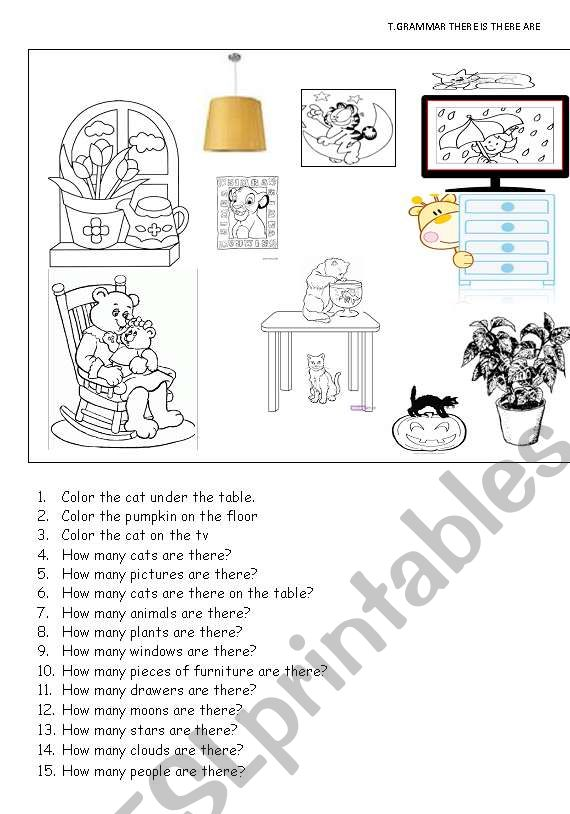 there is there are worksheet