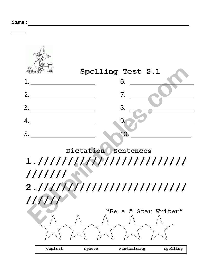 image about Printable Spelling Test named English worksheets: Spelling Check out Printable