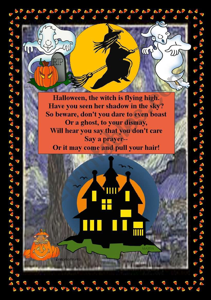 Song**Halloween the witch is flying high