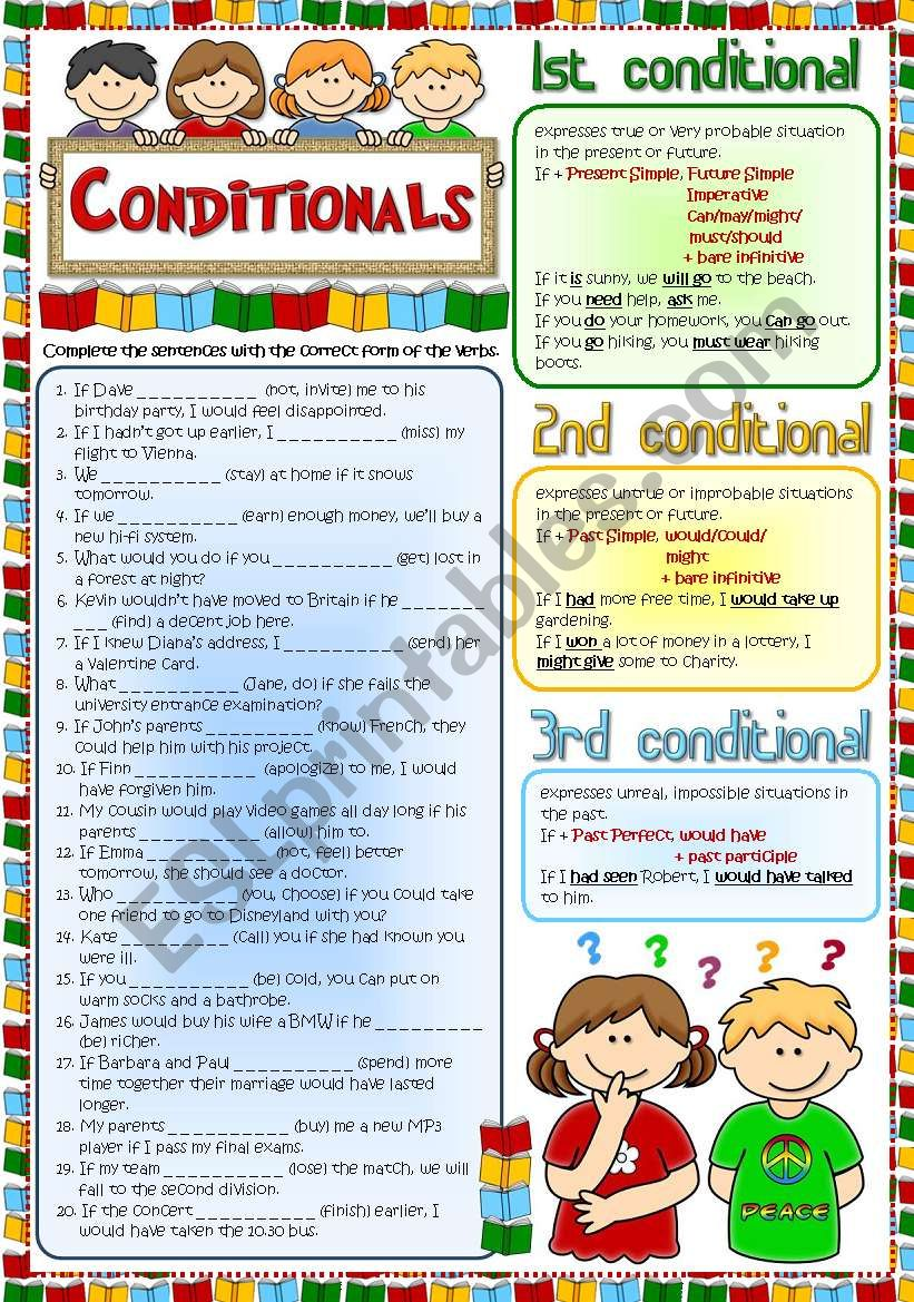 Conditionals - Revision (Greyscale + KEY included)