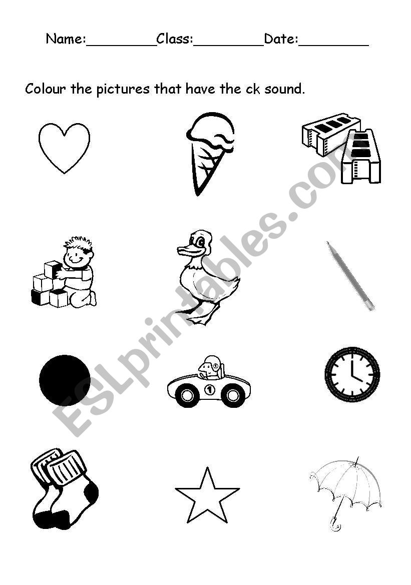 worksheet Ck Worksheets english worksheets phonics ck sound worksheet
