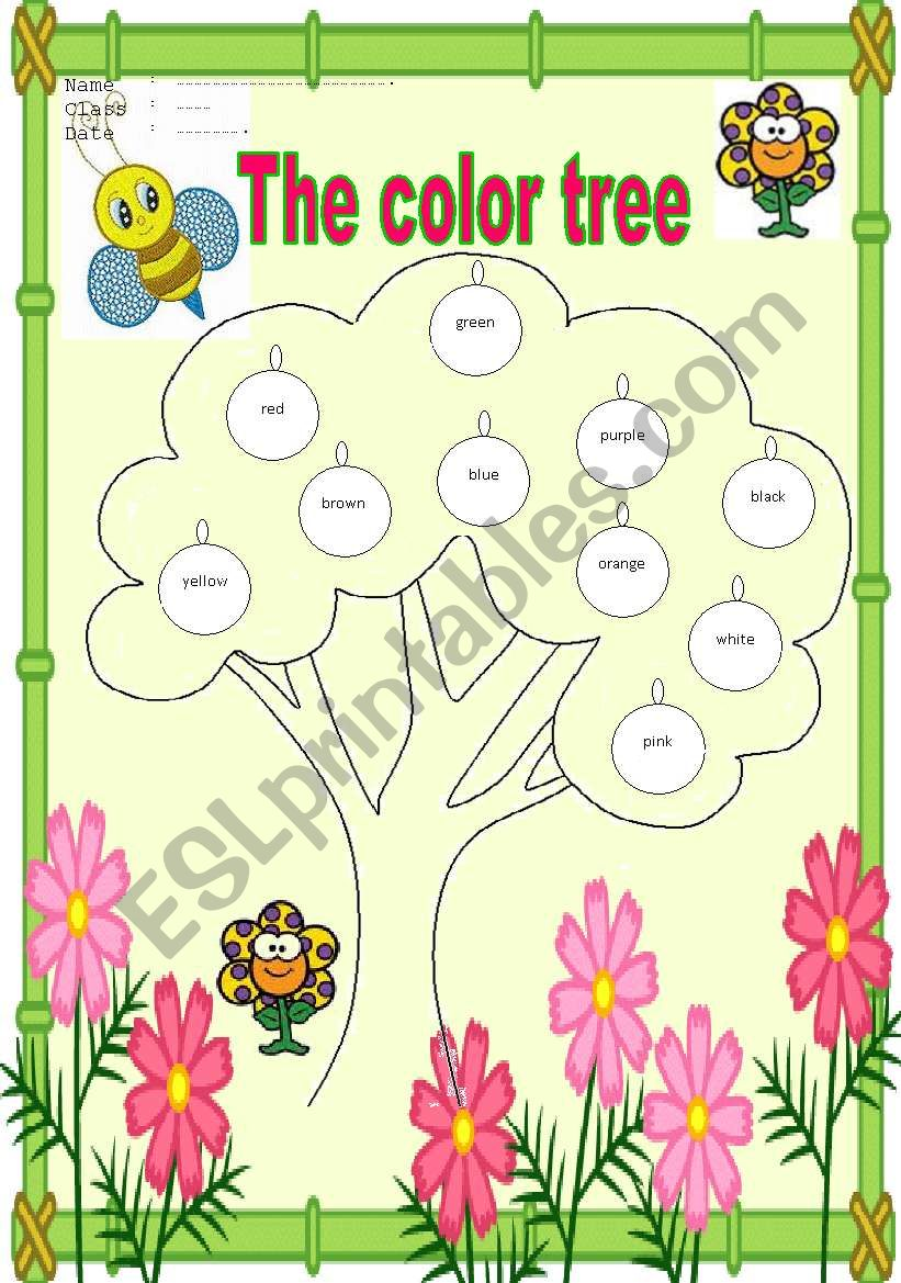 The color tree worksheet