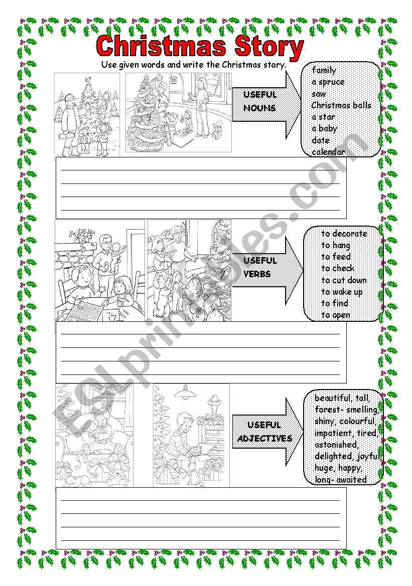 Christmas Story - ESL worksheet by monika.79
