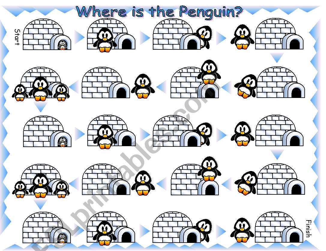 Where is the Penguin Preposition Board Game with Dice and Bookmarks