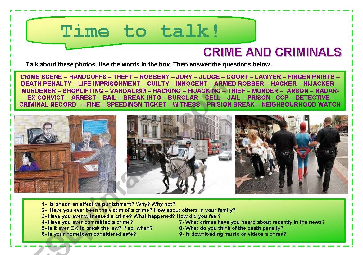 Time to talk (13) - Crime and criminals