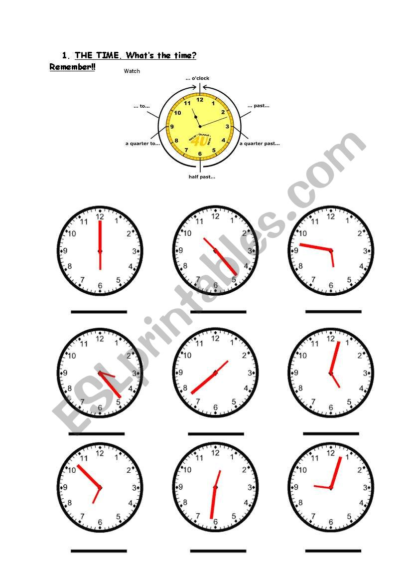 Practice - The time worksheet