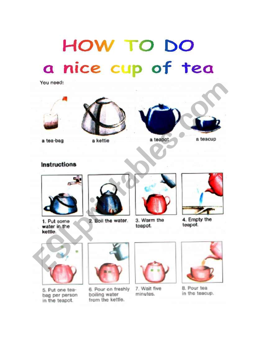How to do a nice cup of tea (part one)