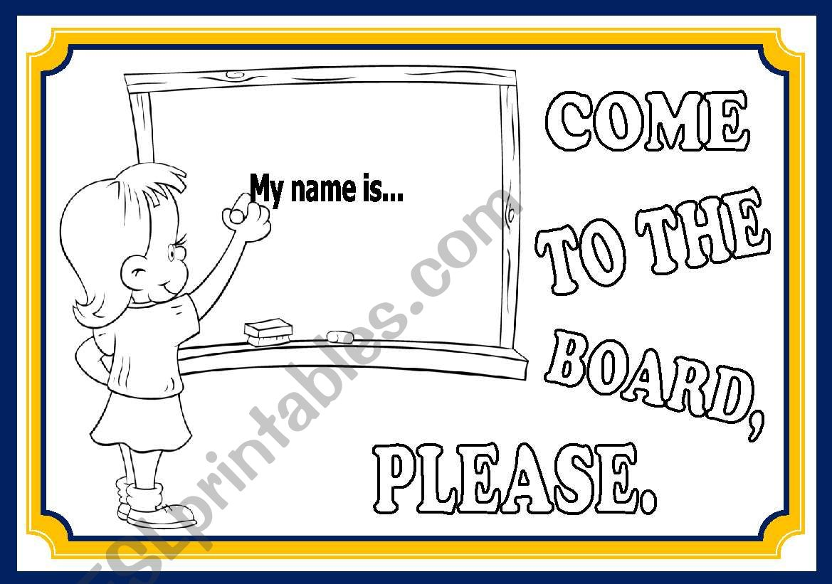 CLASSROOM LANGUAGE - POSTERS (SET2)