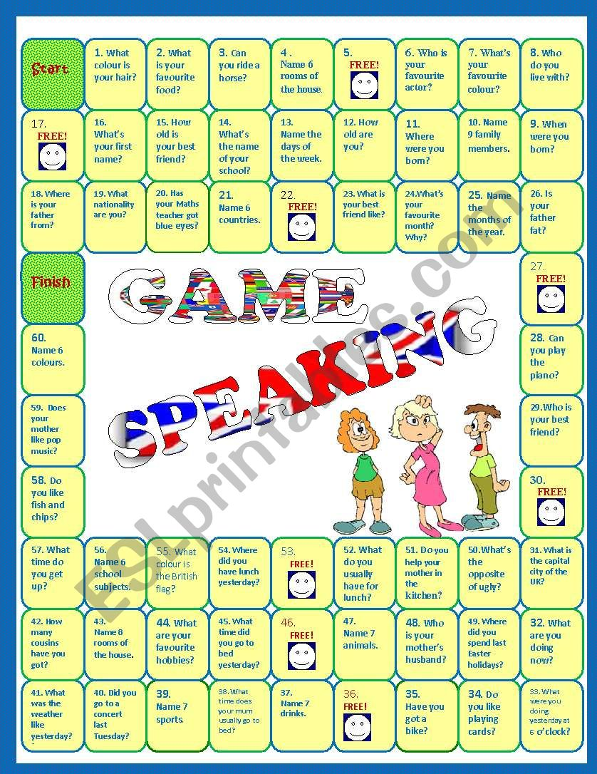 Speaking activity - Revision Board Game