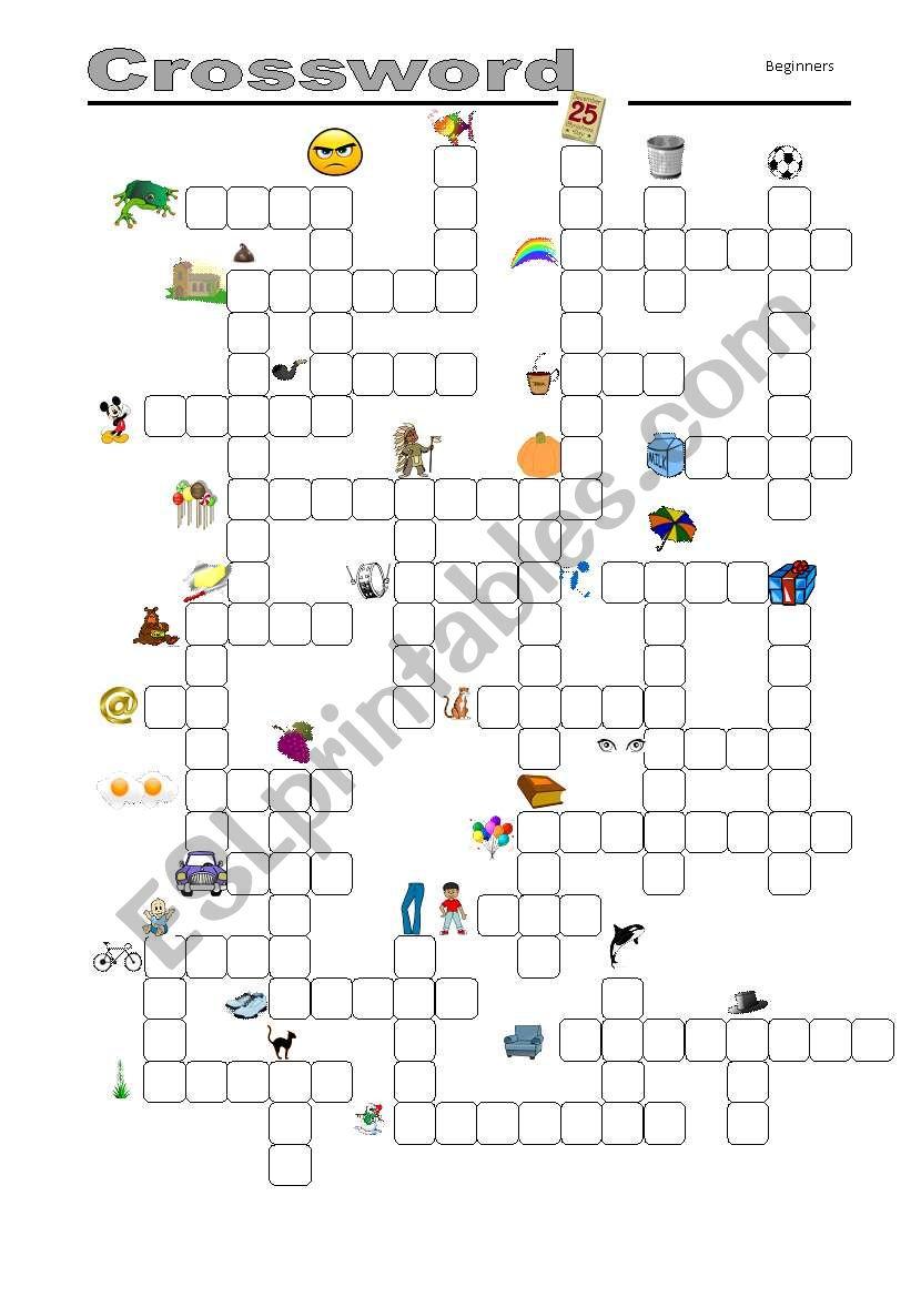 Crossword - ESL worksheet by Mulle