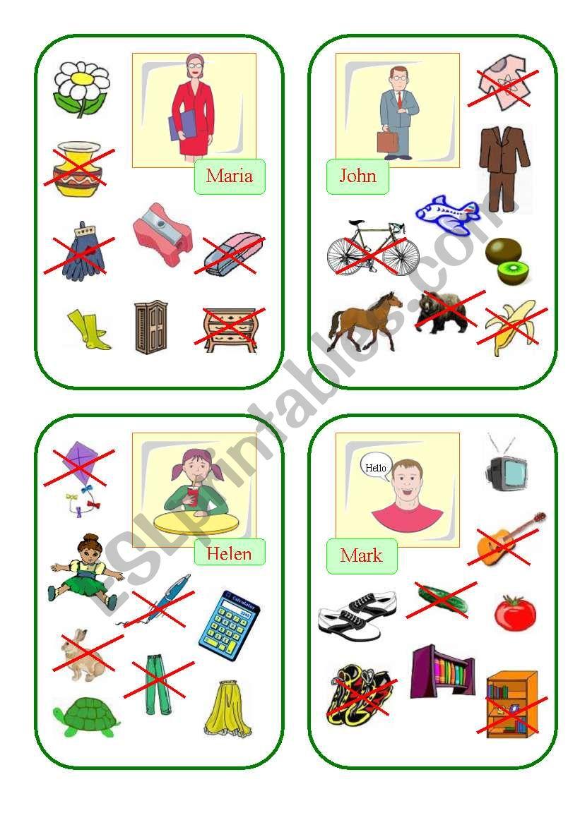 Have got Cards (Part II) worksheet