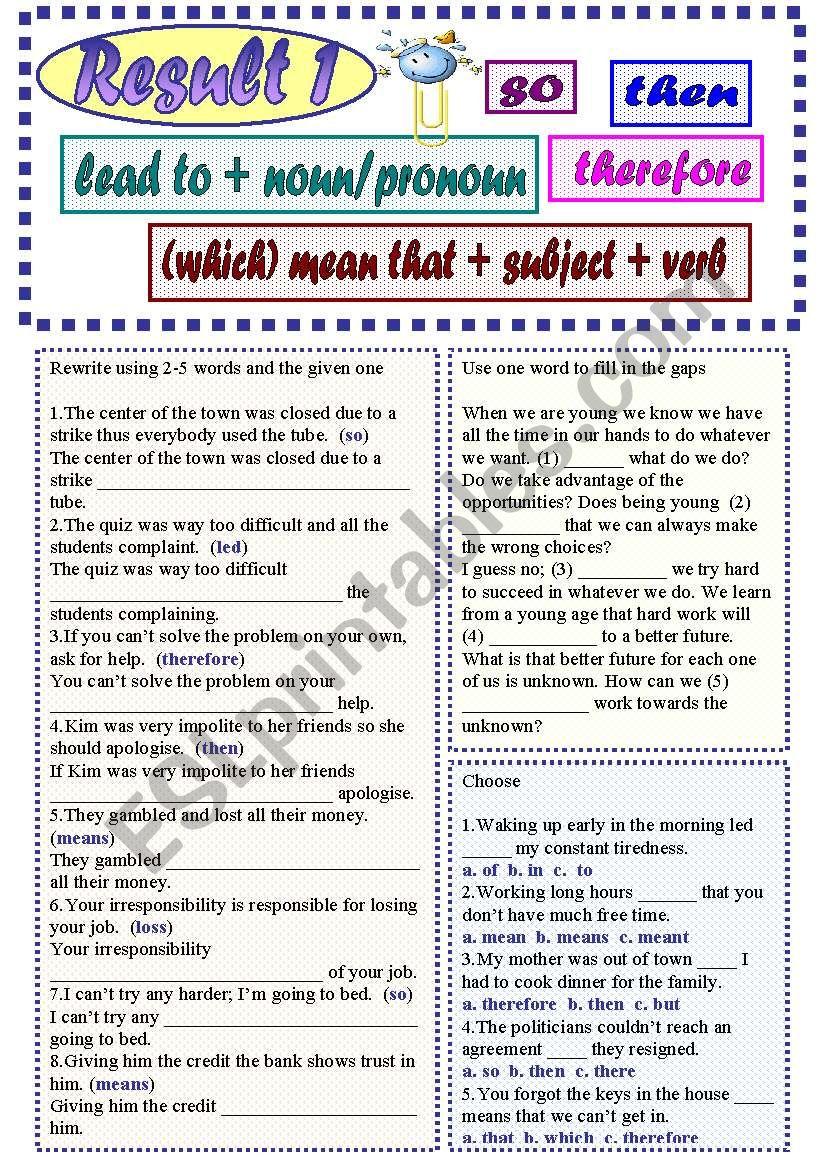Result1 worksheet