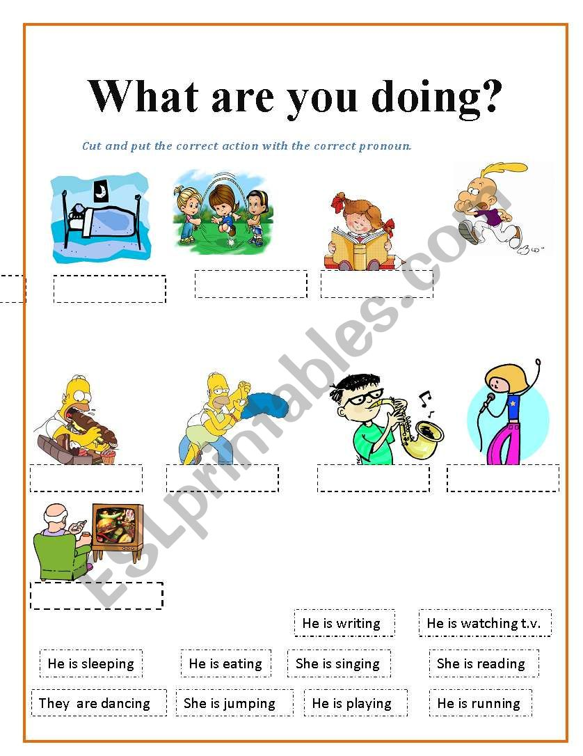 what are you doing - ESL worksheet by lovely15