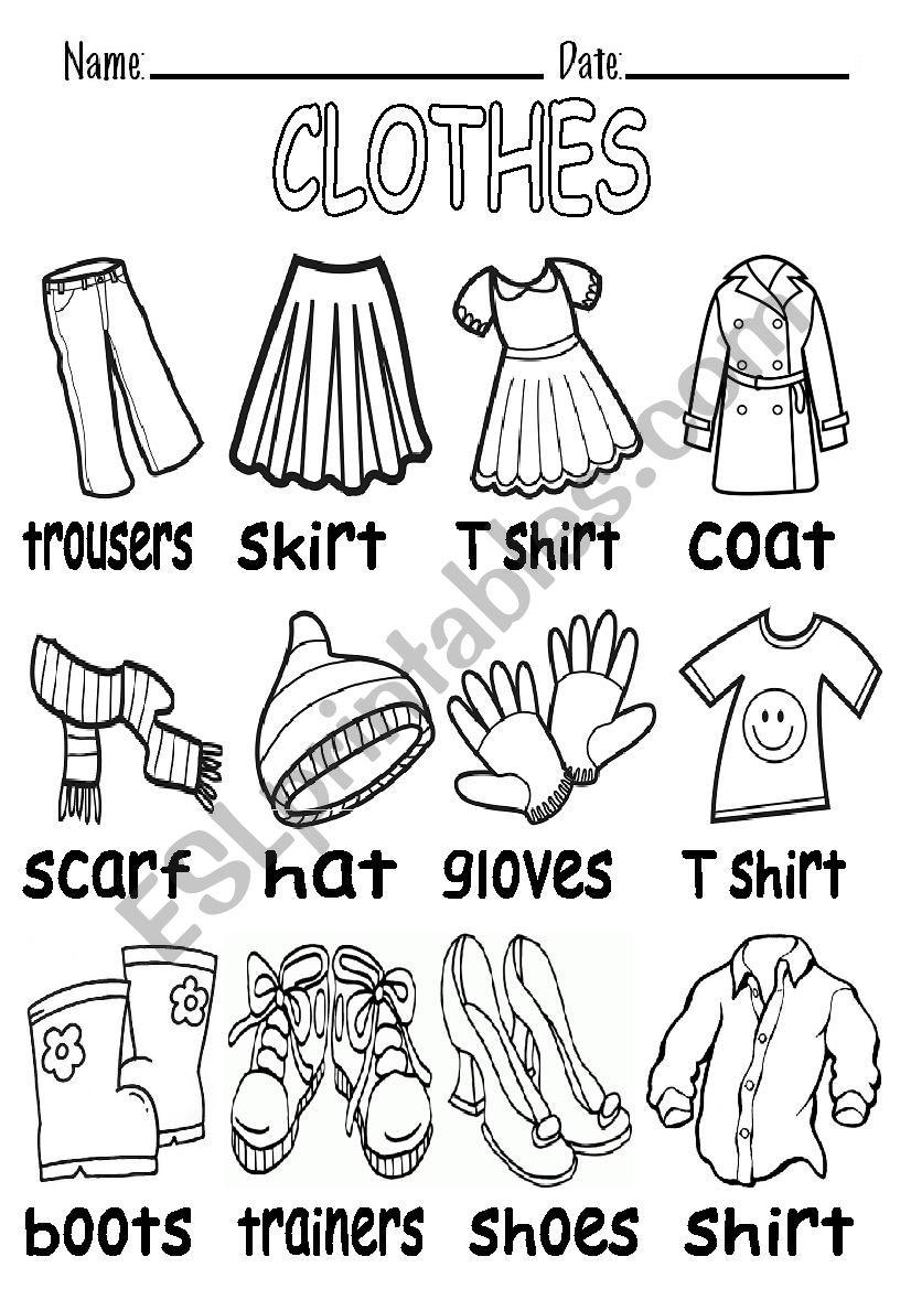 b w vocabulary about clothes esl worksheet by elenarobles29. Black Bedroom Furniture Sets. Home Design Ideas