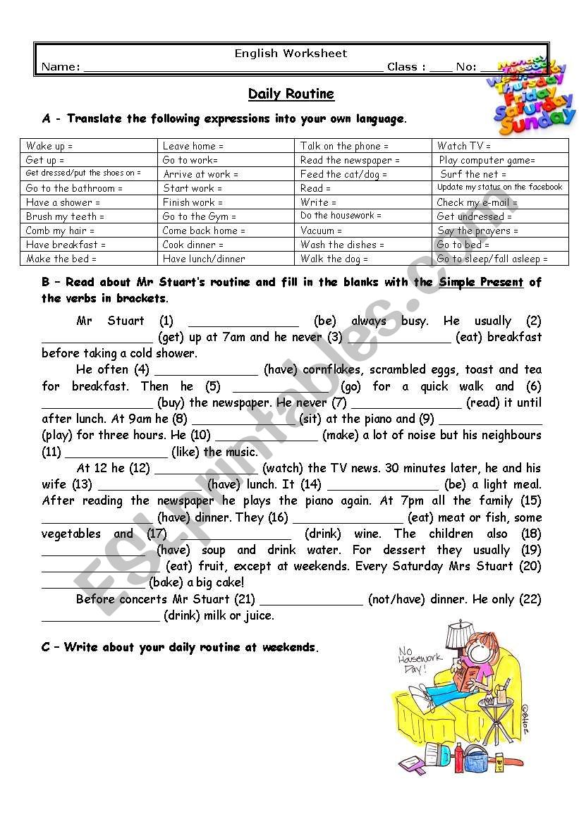image regarding Daily Work Sheet named Adults´ everyday timetable - ESL worksheet by way of maditi