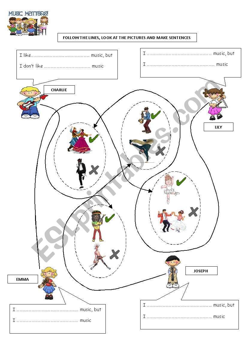 TYPES OF MUSIC worksheet