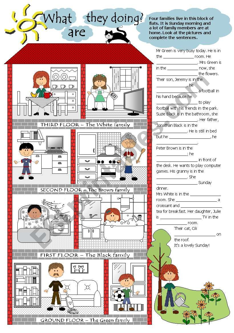 What are they doing? worksheet