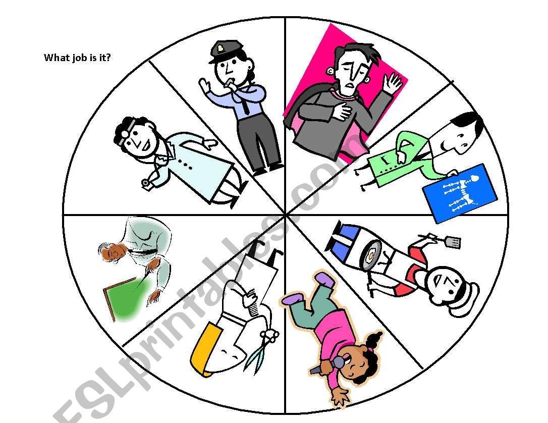 Spinner- JOBS worksheet