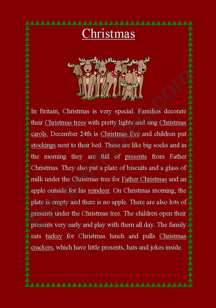 Christmas worksheet