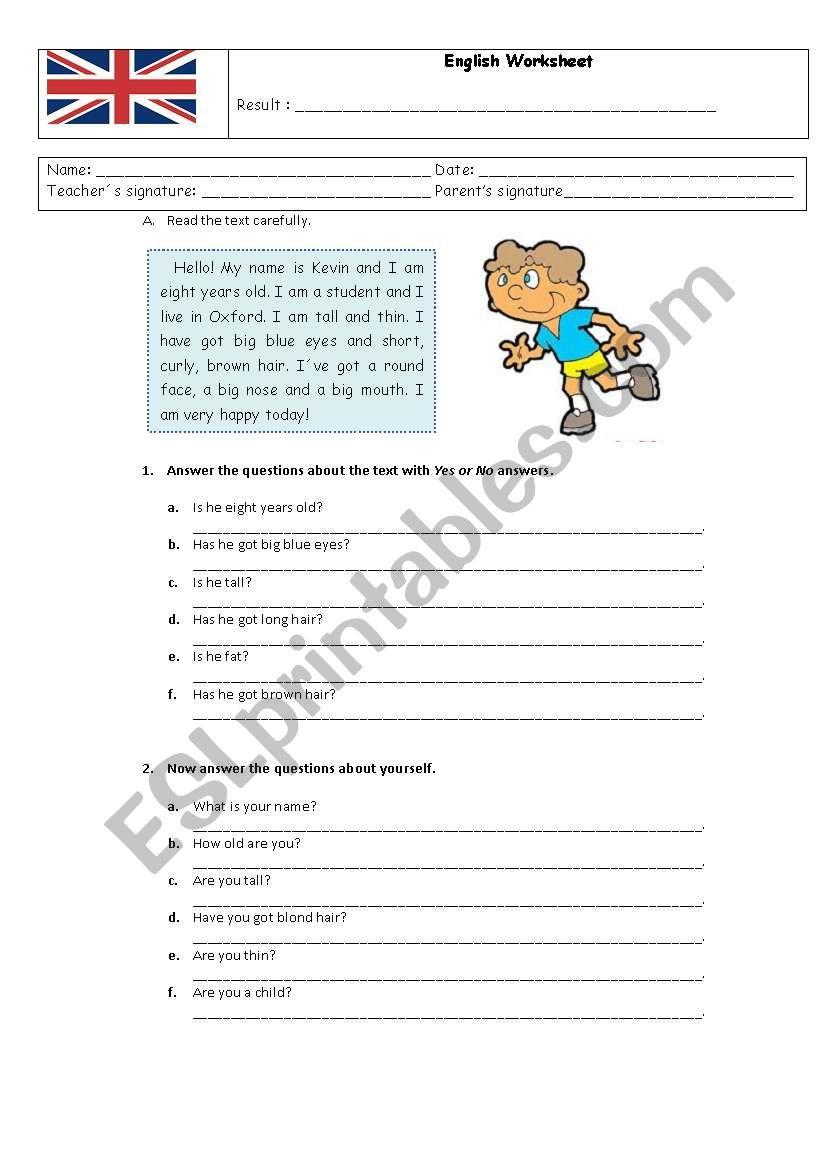 English worksheet worksheet