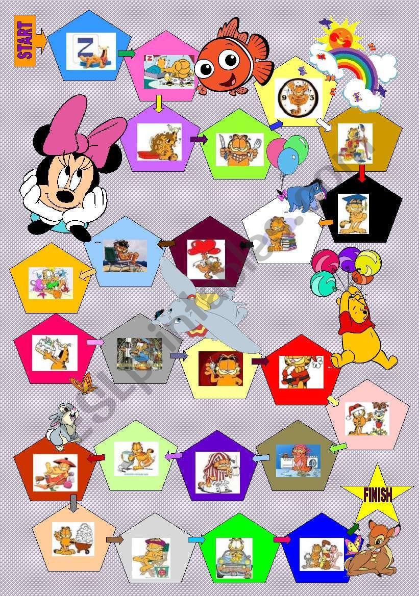 Garfield boardgame actions+dice (18 November 2011)