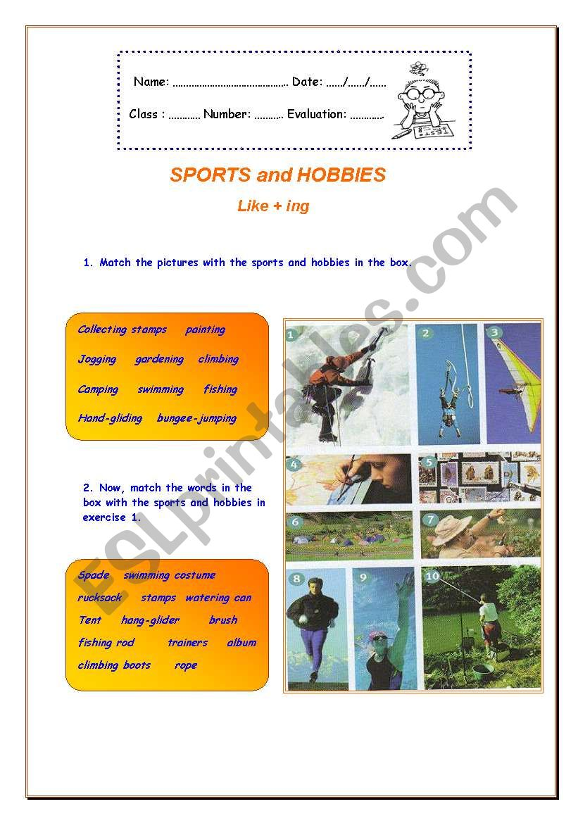 SPORTS and HOBBIES /     Like + ing