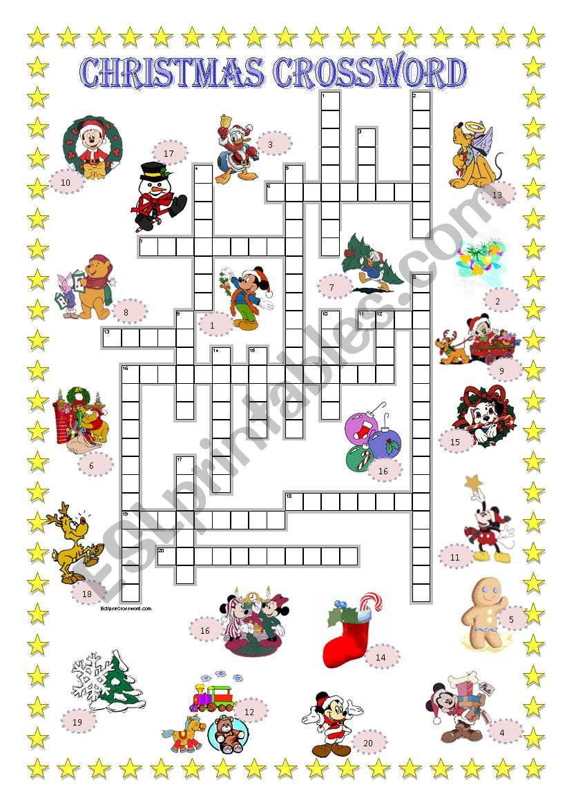 Christmas crossword + Key is included