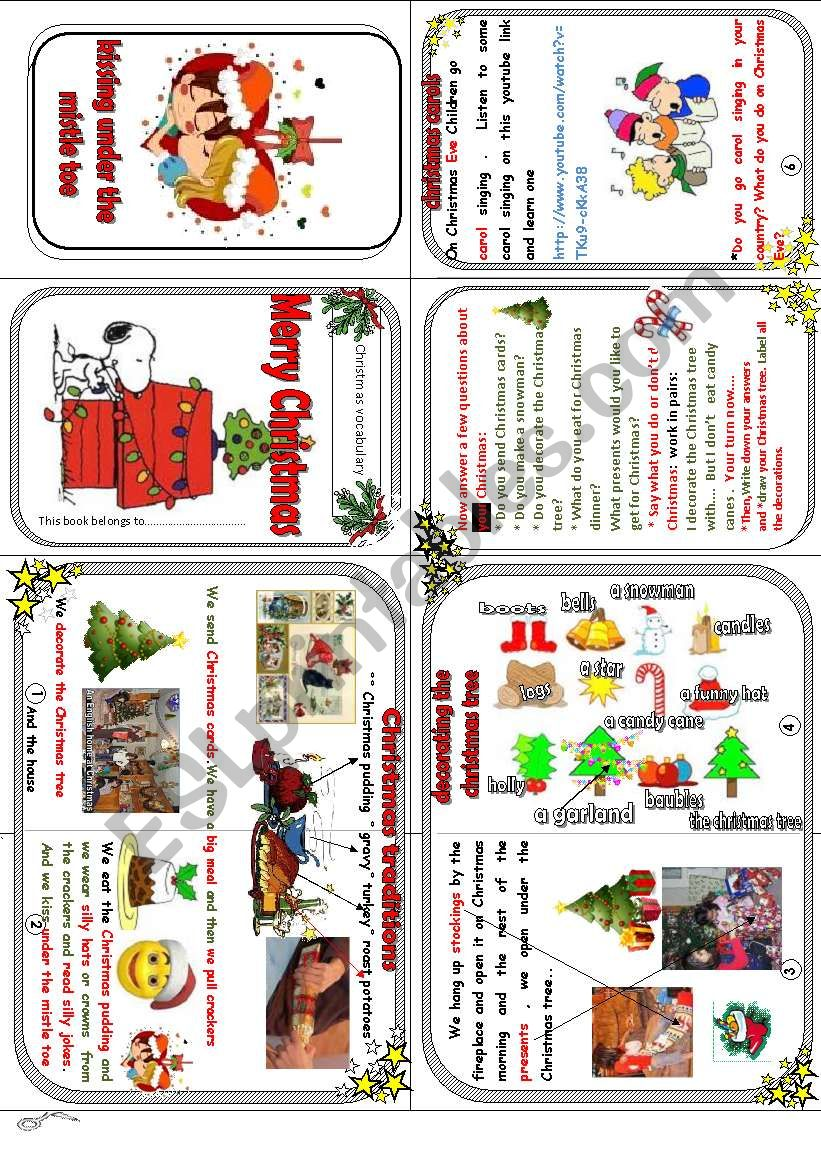 merry christmas ( vocabulary and traditions + activities) - ESL ...