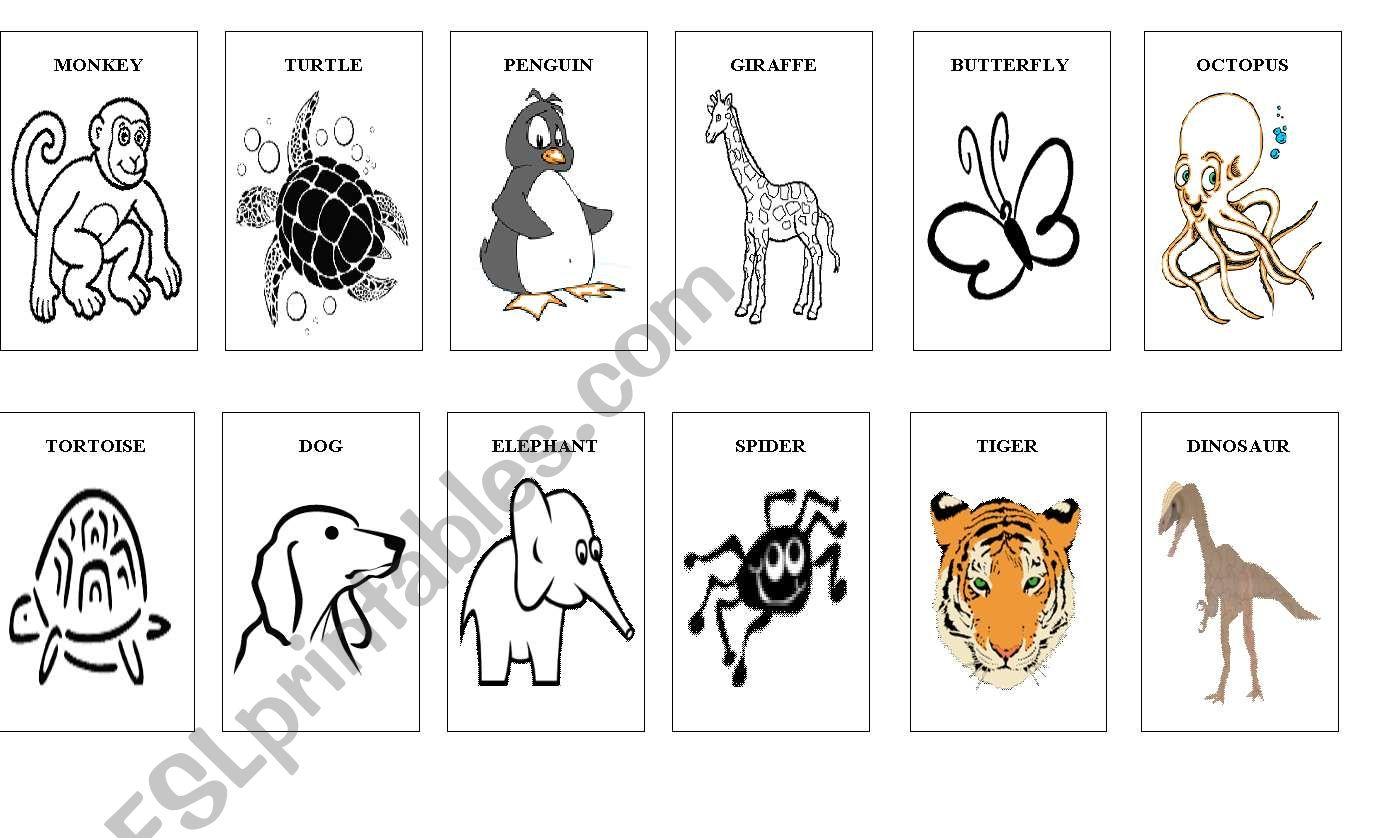 Animal mix cards worksheet